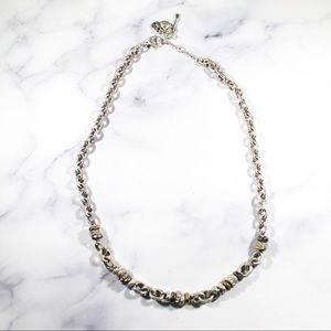 Fossil Mixed Metal Tone Necklace